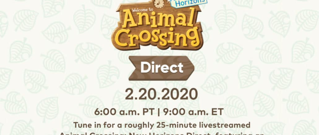 Animal Crossing: New Horizons Direct announced - February20th