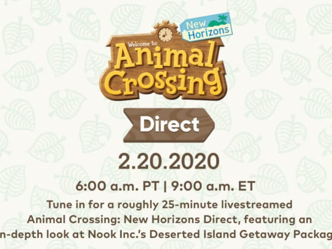 Nieuws - Animal Crossing: New Horizons Direct aangekondigd – 20 Februari