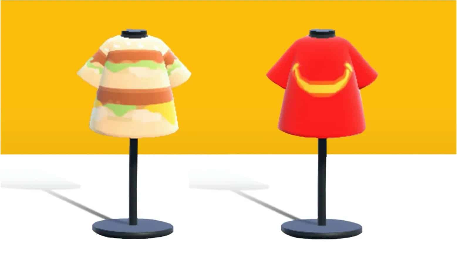 Animal Crossing New Horizons has official McDonald's clothing