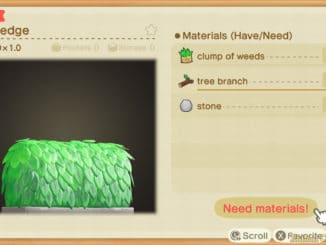 Animal Crossing: New Horizons – Nature Day Hedge Recipe