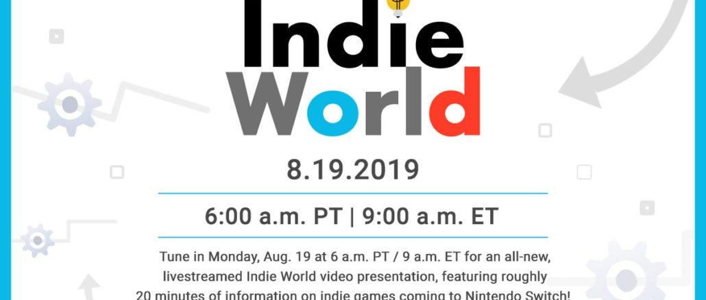 Indie World Presentation – Officially confirmed for August 19th