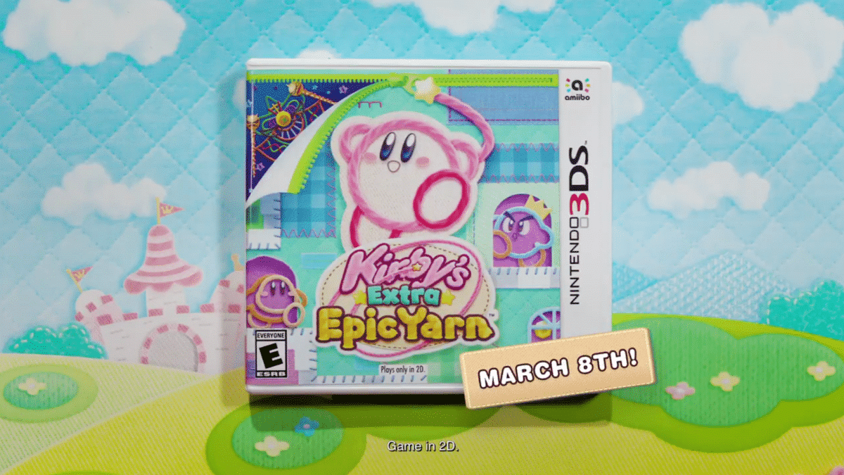 Kirby's Extra Epic Yarn releases March8th