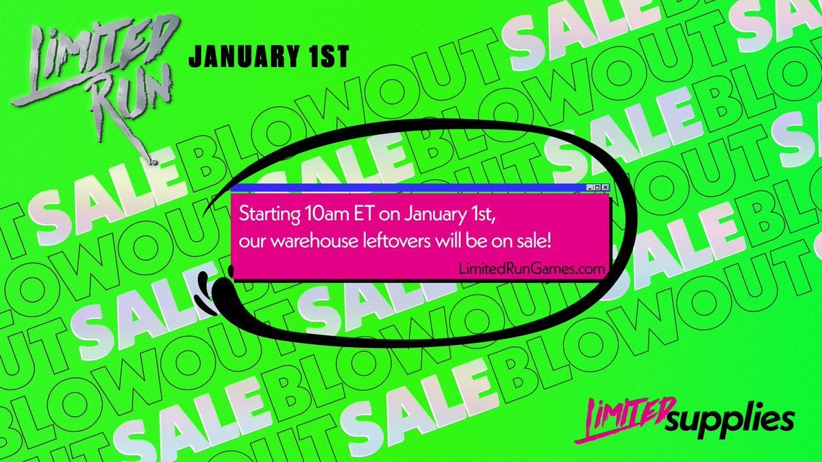 Limited Run Games – Blowout Sale 1 January 2021