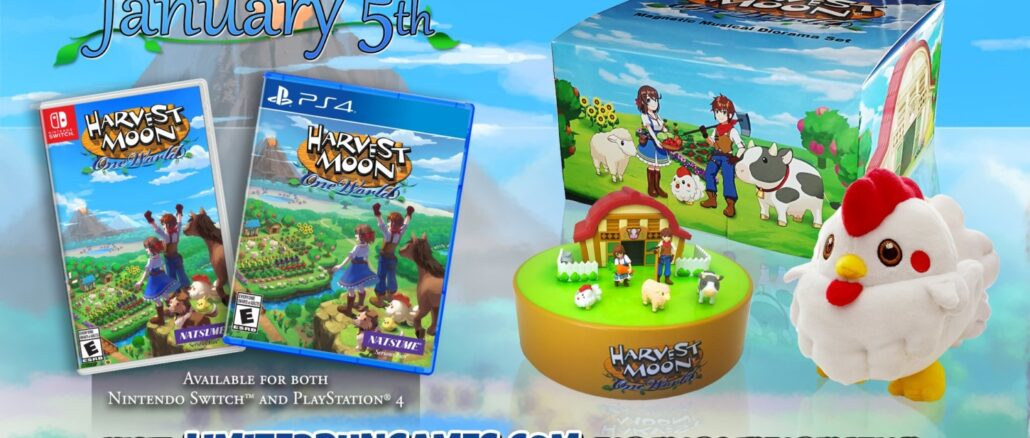 Limited Run Games – Harvest Moon: One World Collector's Editie aangekondigd