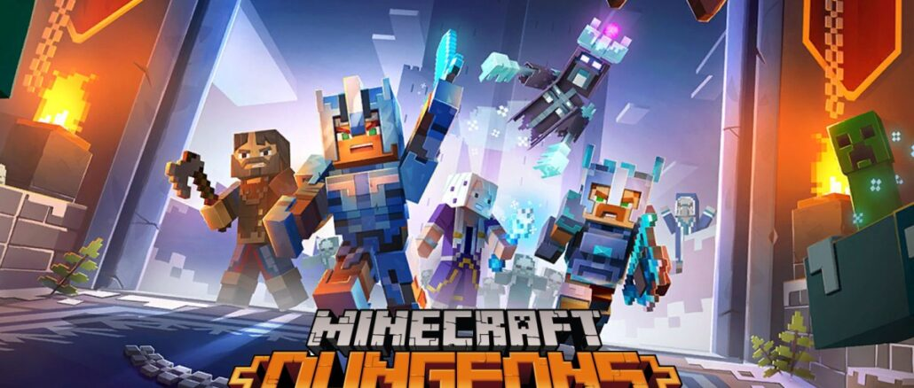 Minecraft Dungeons crossplay trailer