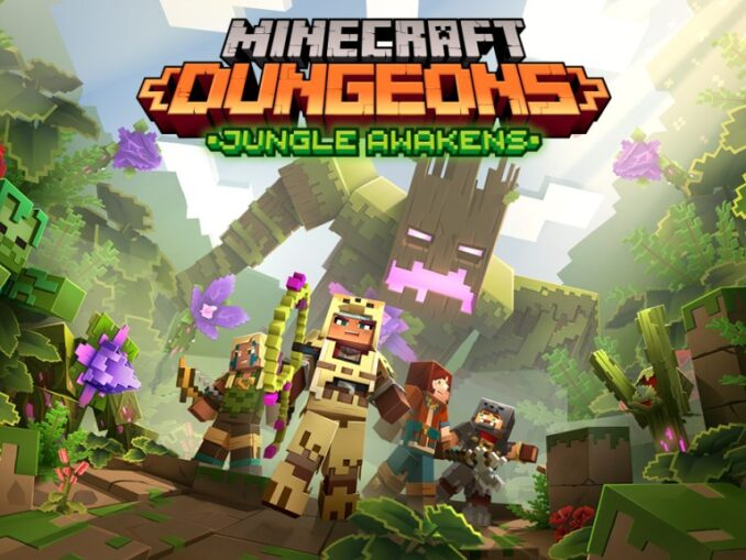 Nieuws - Minecraft Dungeons – Jungle Awakens DLC Juli 2020 – Creeping Winter DLC later