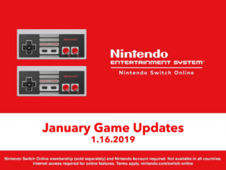 Nieuwe NES Nintendo Switch Online games update trailer Januari