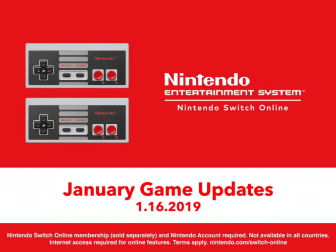 Nieuws - Nieuwe NES Nintendo Switch Online games update trailer Januari