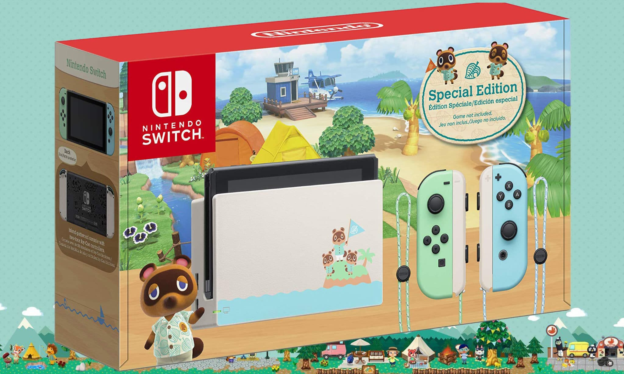 Nintendo Switch Animal Crossing: New Horizons Edition Unboxing