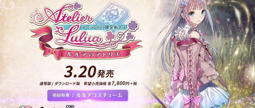 Overview returning characters Totori, Mimi for Atelier Lulua