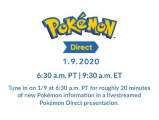 Pokemon Direct announced for January 9th