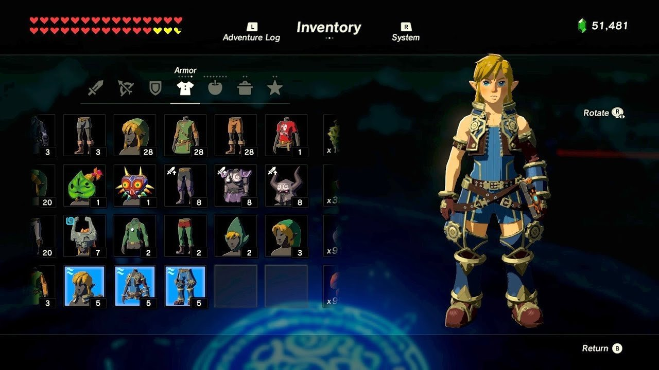 Rex outfit in Breath of the Wild