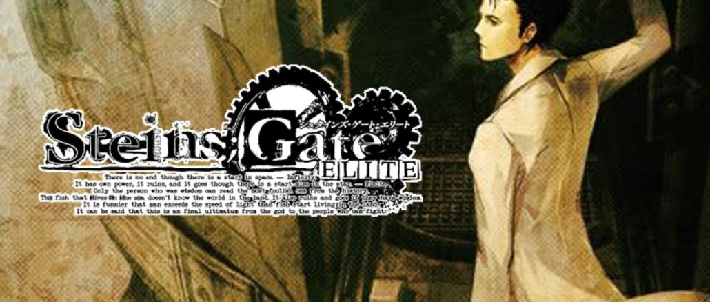 Spike Chunsoft onthuld Steins; Gate Elite exclusief stof poster ontwerp