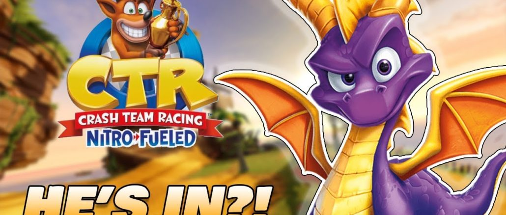 [FACT] Spyro playable in Crash Team Racing Nitro-Fueled?