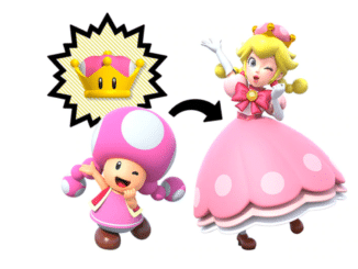 Super Crown affects only Toadette In New Super Mario Bros. U Deluxe