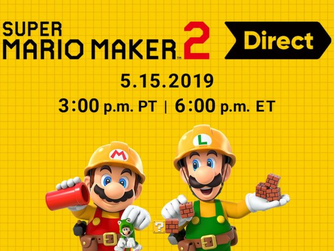 Nieuws - Super Mario Maker 2 Direct morgen!