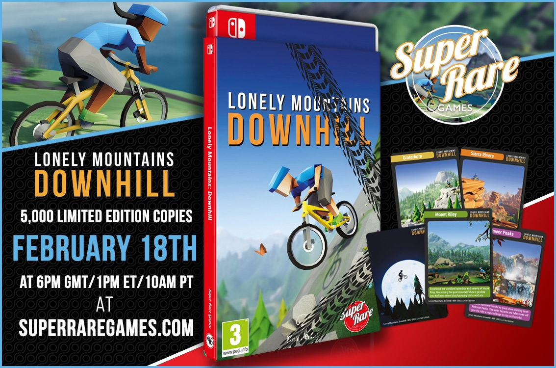 Super Rare Games – Volgende fysieke release – Lonely Mountains: Downhill