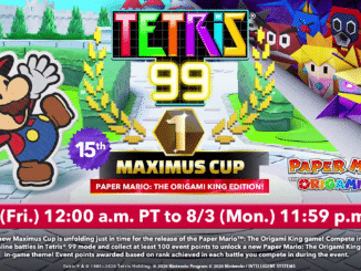 Tetris 99 – 15de Maximus Cup – Paper Mario: The Origami King