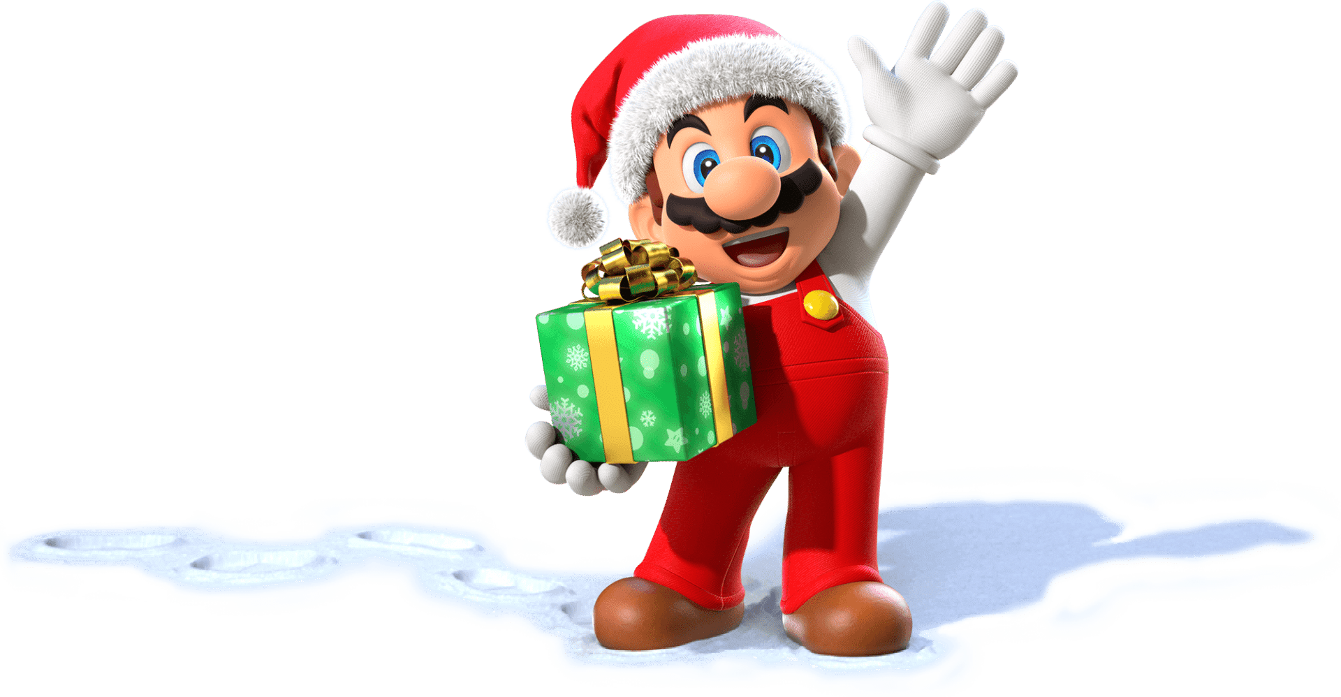 The Santa Claus & 8-Bit outfits are available in Super Mario Odyssey