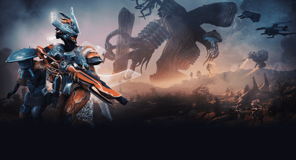 Warframe; No cross-platform accounts or multiplayer
