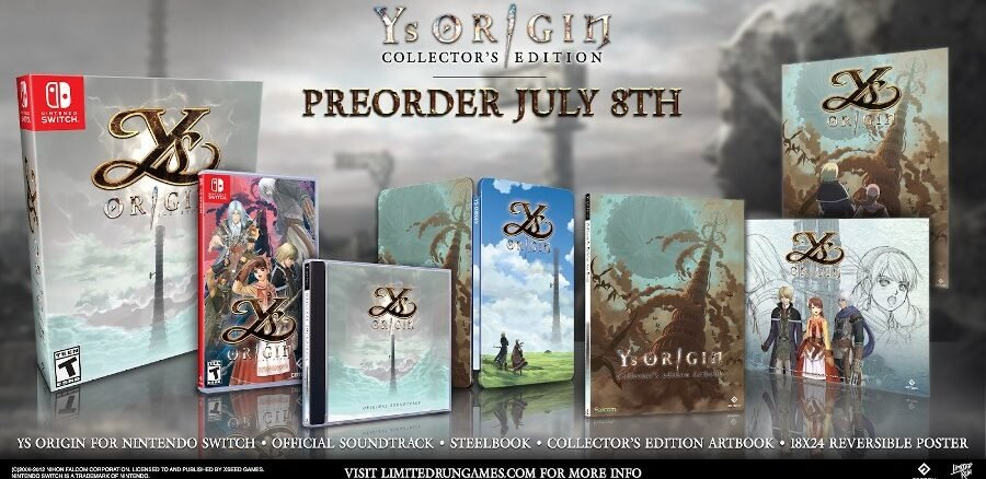 Ys Origin Physical Collector's Edition revealed